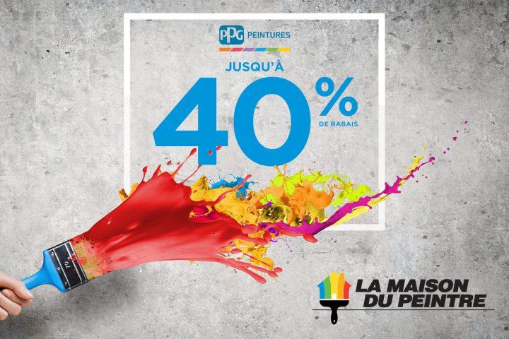 Jusqu'à 40 % sur nos produits PPG!