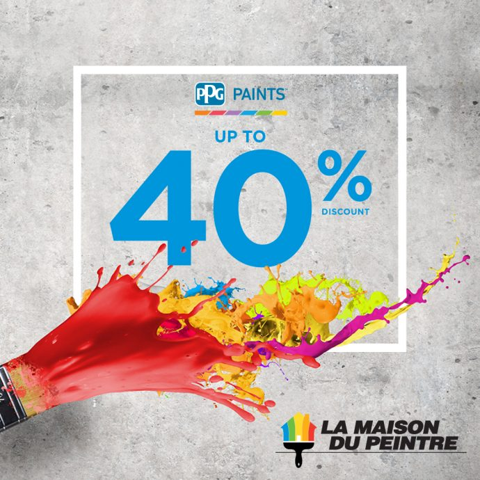 Up to 40% off PPG products