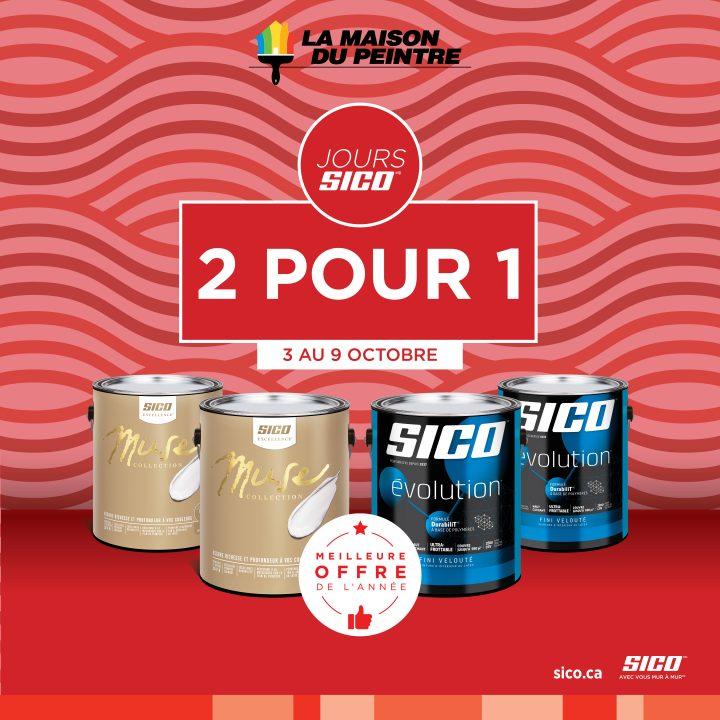 Promotion 2 pour 1 – Les jours SICO!