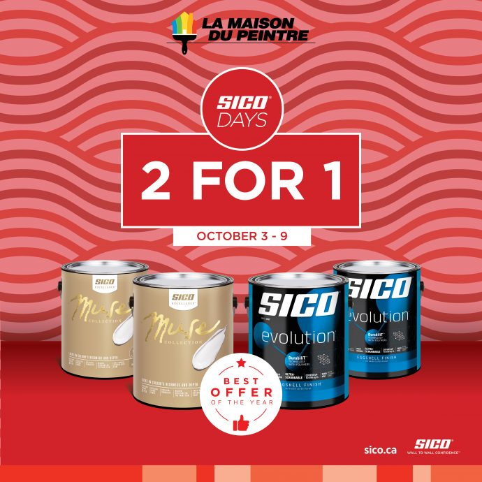 2 for 1 promotion – SICO days!