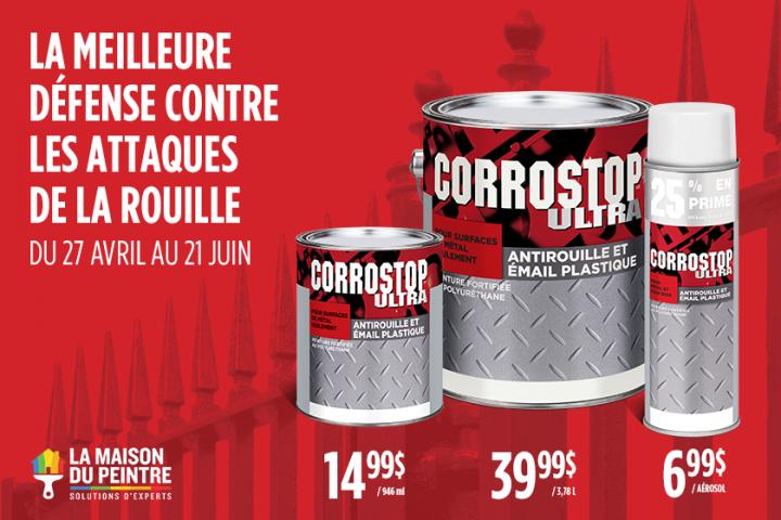 Rabais sur produits Corrostop!