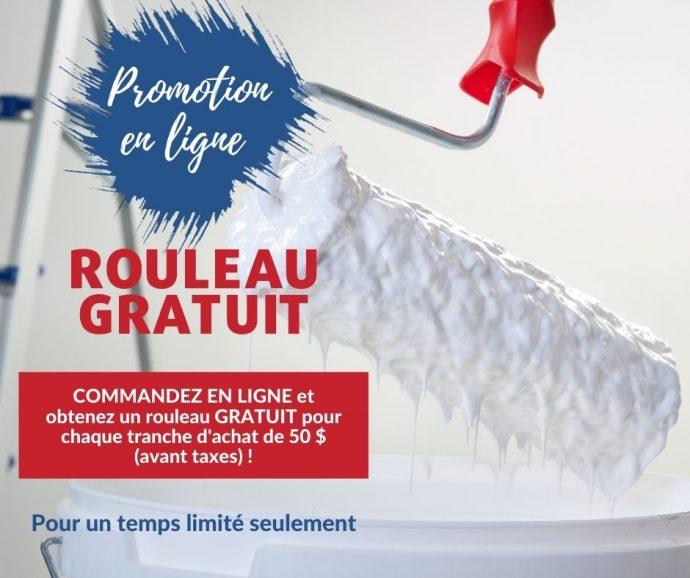 PROMOTION EN LIGNE – Rouleau gratuit